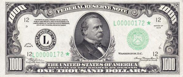 банкнота 1000$
